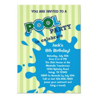"Pool Party Summer Birthday Invitation 5"" X 7"" Invitation Card"