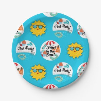 Pool Party Paper Plates