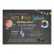 Pool Party Swimming Birthday Splish Splash Invite