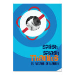 """Pool Party Thank You 5"""" X 7"""" Invitation Card"""