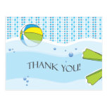 Pool Party Thank You Postcard