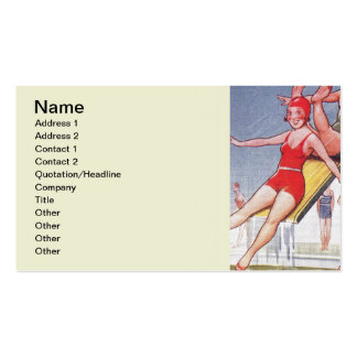 Pool Party Vintage Swimming Pack Of Standard Business Cards