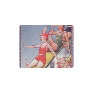 Pool Party Vintage Swimming Pocket Moleskine Notebook Cover With Notebook