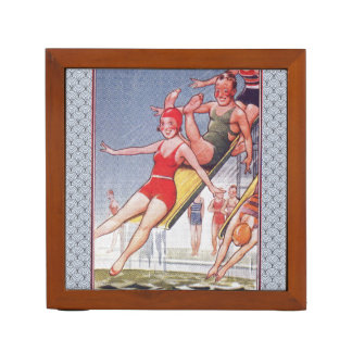 Pool Party Vintage Swimming Pencil Holder