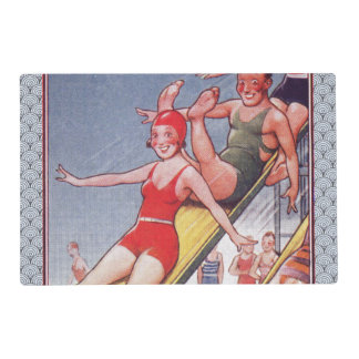 Pool Party Vintage Swimming Placemat