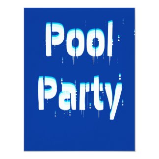 Pool Party Wave Casual Party Theme Invitation