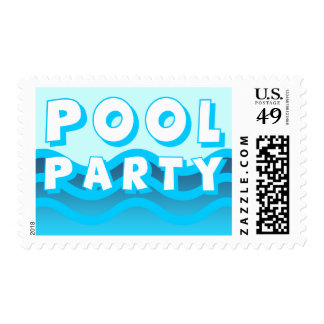 pool party waves postage