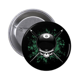 Pool Pirate 1 Pinback Buttons
