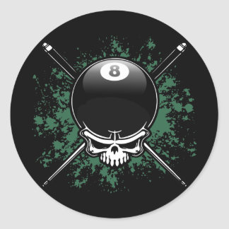 Pool Pirate 1 Classic Round Sticker