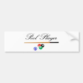 Pool Player Bumper Sticker