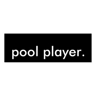 pool player. business card template