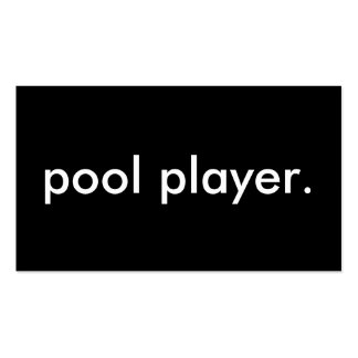pool player. business card templates