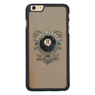 Pool Player Filigree 8-Ball Carved® Maple iPhone 6 Plus Case