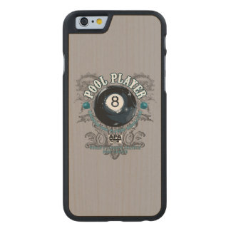 Pool Player Filigree 8-Ball Carved® Maple iPhone 6 Slim Case
