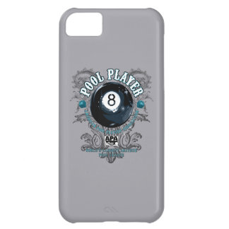 Pool Player Filigree 8-Ball iPhone 5C Cases