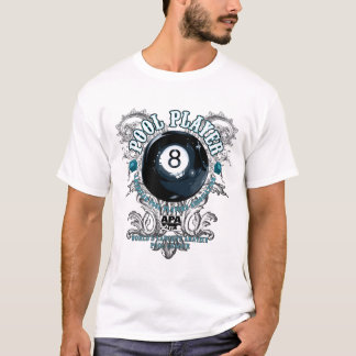 Pool Player Filigree 8-Ball T-Shirt