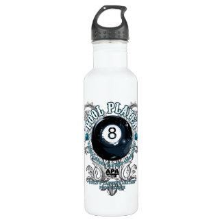 Pool Player Filigree 8-Ball Water Bottle