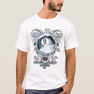 Pool Player Filigree 9-Ball T-Shirt