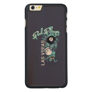 Pool Player Filigree Carved® Maple iPhone 6 Plus Case