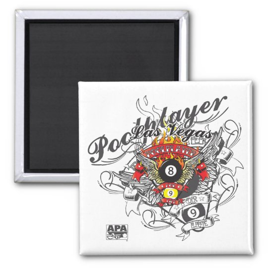 Pool Player For Life Magnet