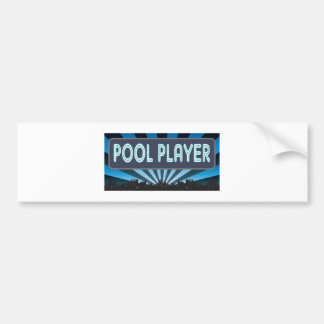 Pool Player Marquee Bumper Stickers