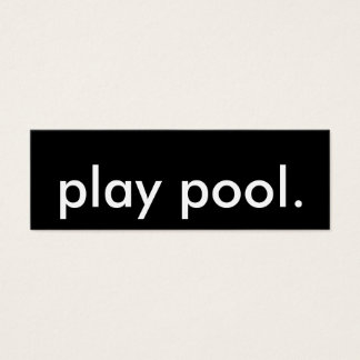 pool player. mini business card