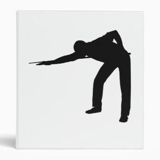 Pool Player Silhouette Vinyl Binder