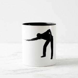 Pool Player Silhouette Coffee Mugs