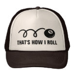 Pool player trucker hat for eightball fans