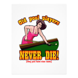Pool Players Personalized Flyer