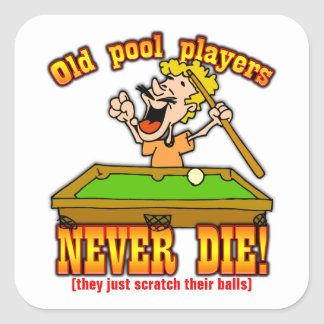 Pool Players Square Sticker