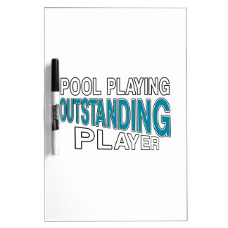 POOL PLAYING OUTSTANDING PLAYER Dry-Erase BOARD