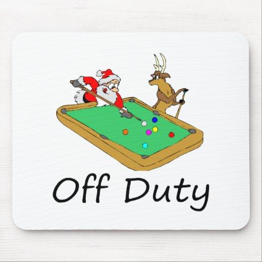 Pool Playing Santa and Reindeer Mouse Pad