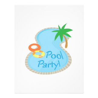 Pool  PoolParty! Personalized Letterhead