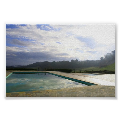 pool reflection poster