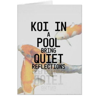 Pool Reflections - Poetry Card