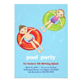 Pool Rings Summer Swim Birthday Party Invitation