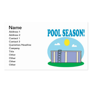 Pool Season Double-Sided Standard Business Cards (Pack Of 100)