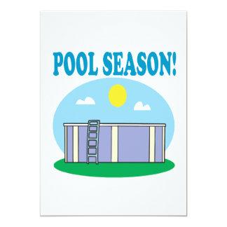 Pool Season 5x7 Paper Invitation Card