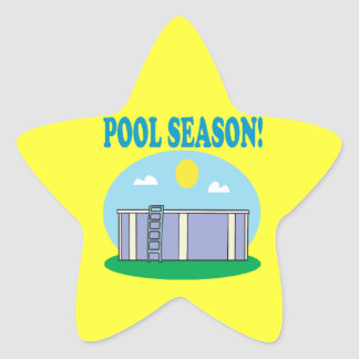 Pool Season Star Sticker