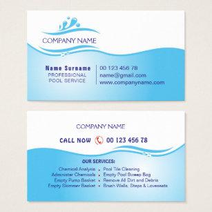 Pool service business cards templates zazzle pool service business card colourmoves Choice Image