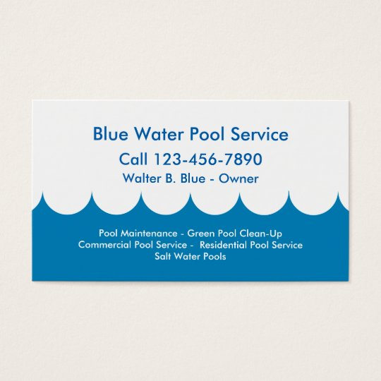 Pool service business card zazzle pool service business card colourmoves Choice Image