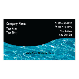 Pool Service Cards_5 Double-Sided Standard Business Cards (Pack Of 100)