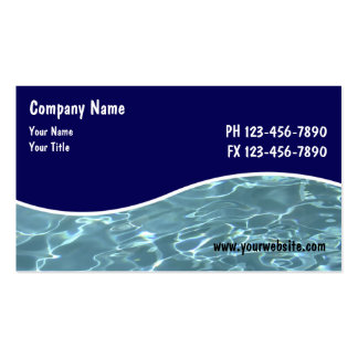Pool Service Cards Business Card Template