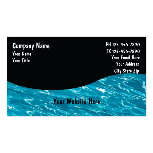 Pool Service Cards Double-Sided Standard Business Cards (Pack Of 100)