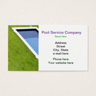 Pool Service Company Business Card