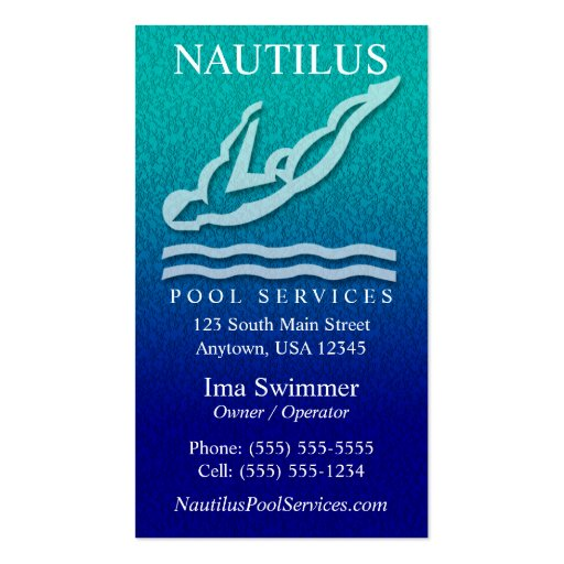 Swimming pool business card templates page2 bizcardstudio pool services business cards colourmoves Choice Image
