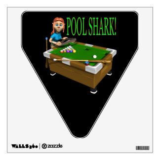 Pool Shark 2 Wall Sticker