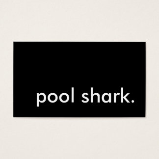 pool shark. business card