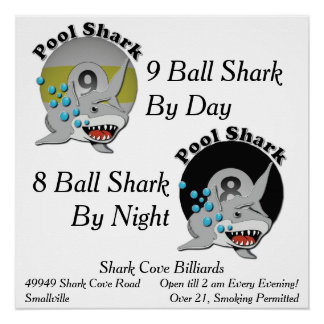 Pool Shark Business Poster
